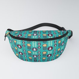 Christmas pattern in blue Fanny Pack
