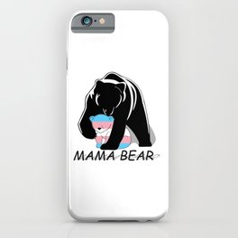 Mama Bear Transgender iPhone Case