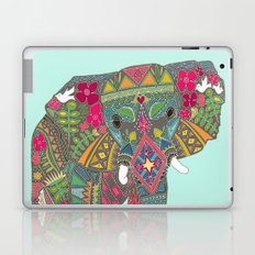 painted elephant aqua spot Laptop & iPad Skin