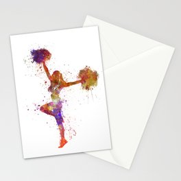 young woman cheerleader 06 Stationery Cards