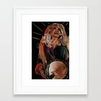 dolly parton Framed Art Prints featuring The Ecstasy of Dolly Parton 2 by Caitlin Harper
