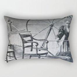 Antique candle making Rectangular Pillow