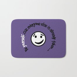 Be Yourself in Ultra_Violet - I, 2018 Color-of-Year Bath Mat