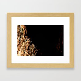Cleft of the Earth Framed Art Print