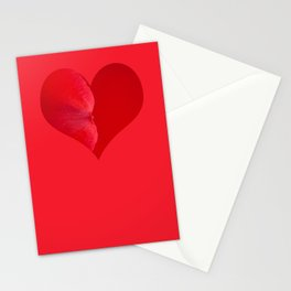 Rose rouge Stationery Cards