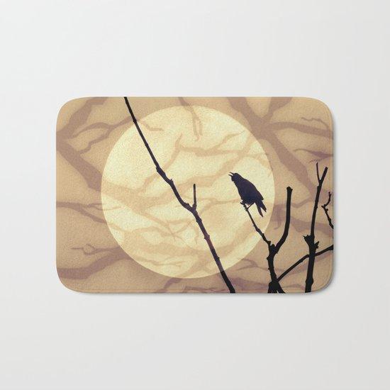 The Crow, The Moon, The Shadows Bath Mat