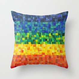 Chakra Rainbow Tiles Throw Pillow