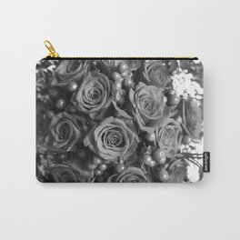 Roses (black and white) Carry-All Pouch