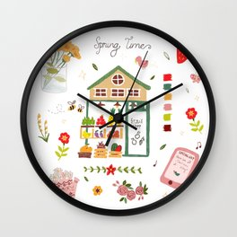 Fruit Shop - pencil hand-painted Wall Clock