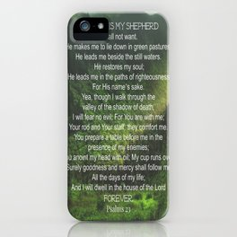 Psalms 23 Lords Prayer iPhone Case