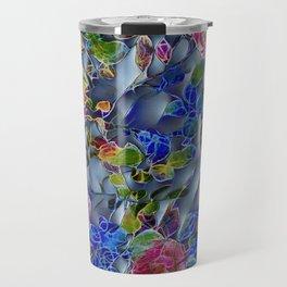 embossed floral Travel Mug