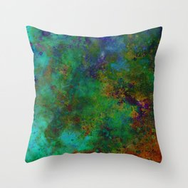 HAND-PAINTED UNIVERSE Throw Pillow
