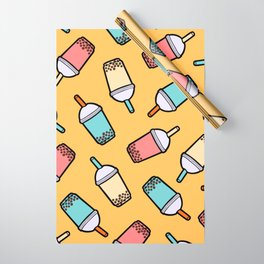 Bubble Tea Pattern Wrapping Paper