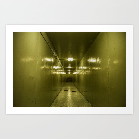 Corridor - Reunification Palace, Ho Chi Minh City Art Print