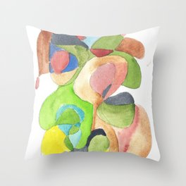 Life and Meaning 11| Abstract Watercolors Throw Pillow