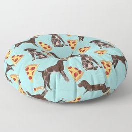 German Shorthair Pointer dog breed pet art pizza slices pattern design by pet friendly dog lovers Floor Pillow