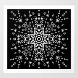 Canna Burst Art Print