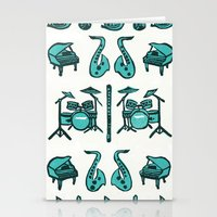mortal instruments Stationery Cards featuring Jazz instruments by what the ostrich