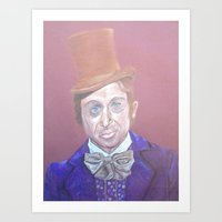 willy wonka Art Prints featuring Willy Wonka by gabrielle gordon