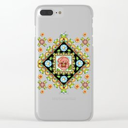 Pink Pansy Cottage Clear iPhone Case