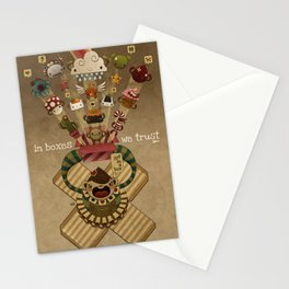 In boxes we trust Stationery Cards
