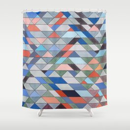 Triangle Pattern No. 7 Diagonals Shower Curtain