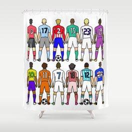 Soccer Backs Shower Curtain
