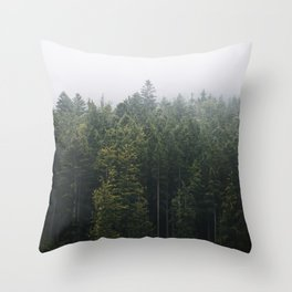 Into the Forest I go – Moody Landscape Photography Throw Pillow