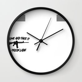 AR15 Come and Take it Flag Sleeves Wall Clock