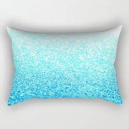 Turquoise Glitter Rectangular Pillow
