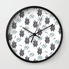 Cat fart Wall Clock