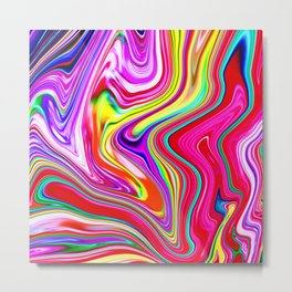 Marble Marbled Abstract Trendy CLVII Metal Print