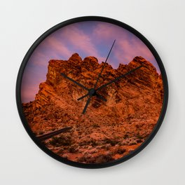 Sunrise Glow - Valley of Fire State Park Wall Clock