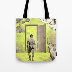A walk in the light Tote Bag