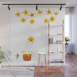 Jumping star Wall Mural