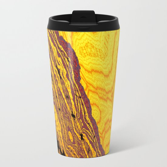 from yellow dunes to ugly shore Metal Travel Mug