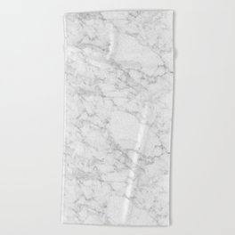 White Marble Edition 2 Beach Towel