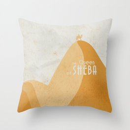 Queen of Sheba, André Malraux, book cover, Yemen, travel, adventure, wanderlust, travelling stories Throw Pillow