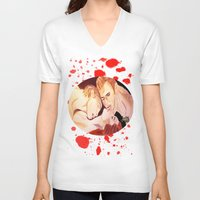 vampire diaries V-neck T-shirts featuring The Vampire Diaries  by Jonboistars