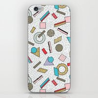 toddler iPhone & iPod Skins featuring Modern Memphis Inspired Geometric Gold Pattern by Season of Victory