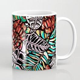 Bananas and exotic leaves. Coffee Mug