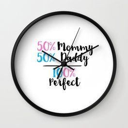 Gift For Mom Mom And Dad Gifts Dad Gifts Mom To Be Printable Art Nursery Quotes Inspirational Quotes Wall Clock