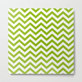 Simple Chevron Pattern - Apple Green & White - Mix & Match with Simplicity of Life Metal Print