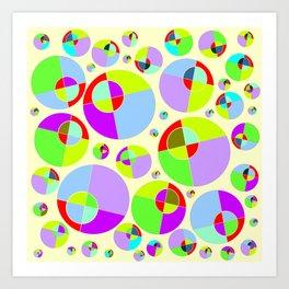 Bubble yellow & purple 10 Art Print