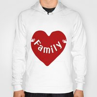 family Hoodies featuring Family by Geni