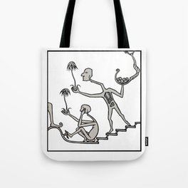 Come Downstairs and Say Hello Tote Bag