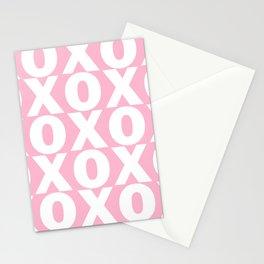 XOXO - Light Pink Pattern Stationery Cards