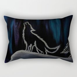 Crying with the Wolves Rectangular Pillow