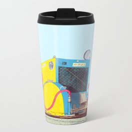 The asphalt cutter Metal Travel Mug