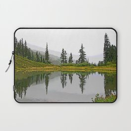 REFLECTIONS ON A PLACID MOUNTAIN LAKE Laptop Sleeve